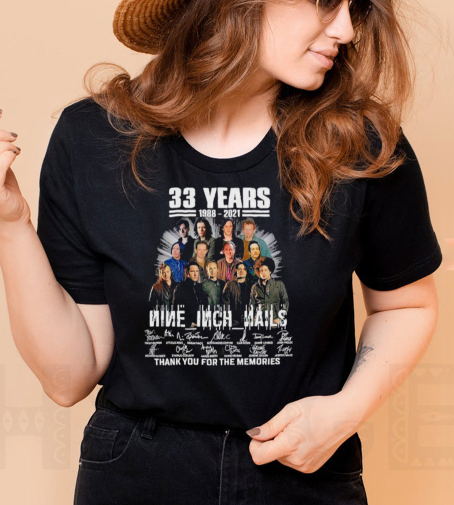 33 years 1988 2021 nine inch nails thank you for the memories shirt