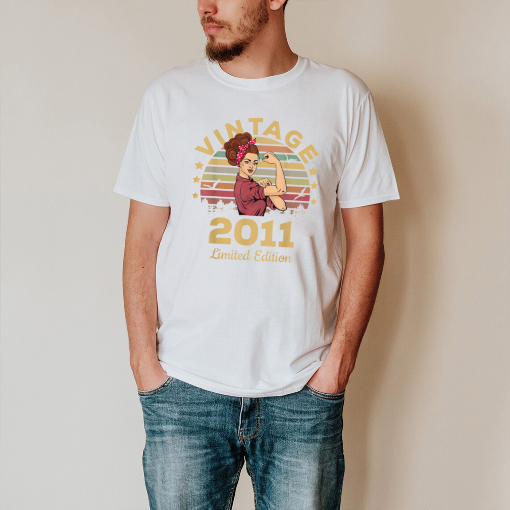 Vintage 2011 Made In 2011 10th Birthday Women 10 Years T Shirt